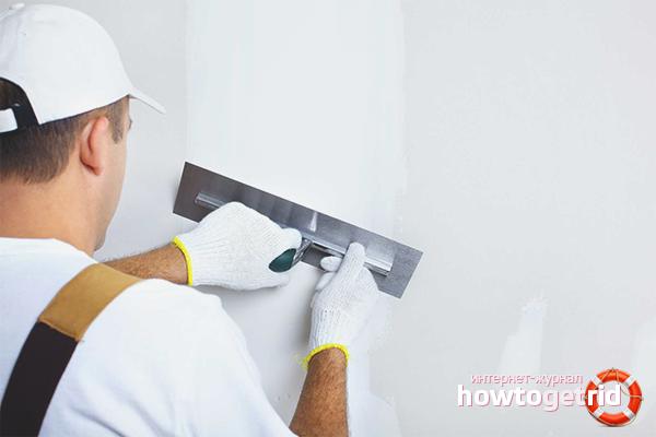 Как подготовить к отделке стены из гипсокартона