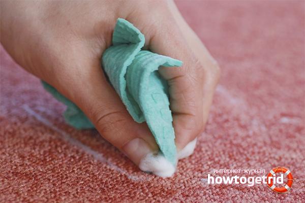 Народные методы чистки ковролина