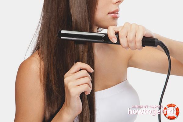 Общие рекомендации по выпрямлению волос утюжком