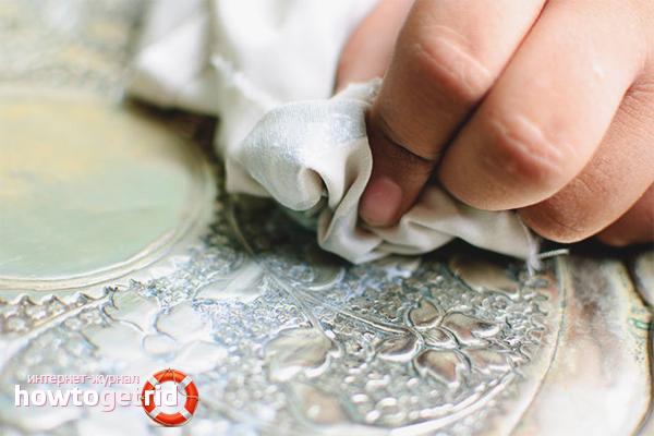 Домашние рецепты чистки серебряных украшений