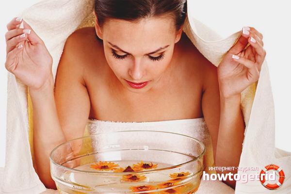 Использование паровой ванночки