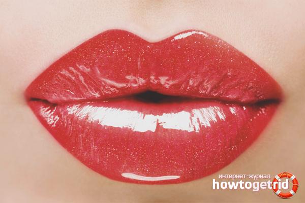 Как накрасить губы красной помадой по технике 3D