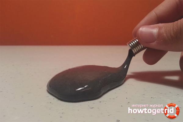 Как сделать магнитного лизуна