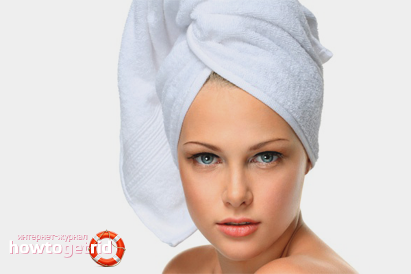 Сушка головы полотенцем