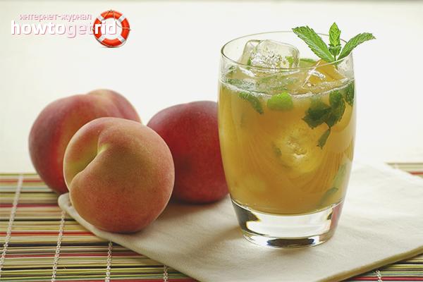 Алкогольный мохито с персиком