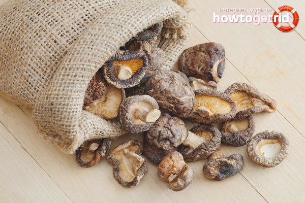 Хранение сушеных грибов в мешках