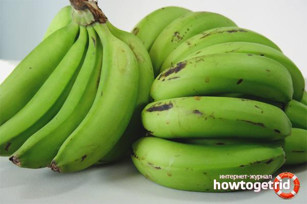 Как хранить зелёные бананы