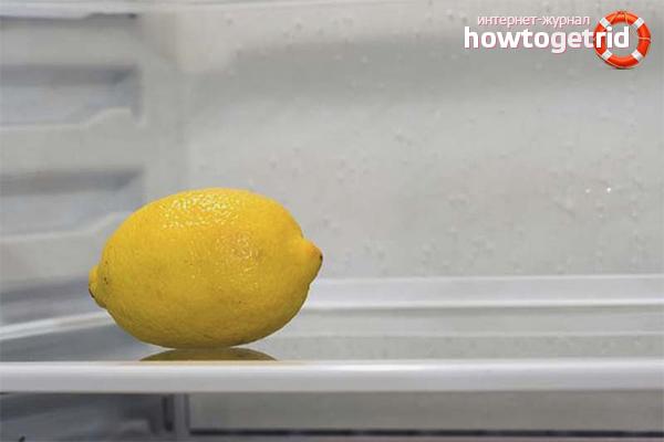 Лимон от запаха в холодильнике