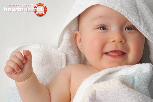 Новорожденный после ванны