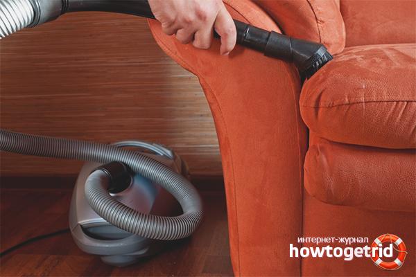 Общие рекомендации чистки мягкой мебели