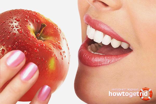 Полезная пища для зубов