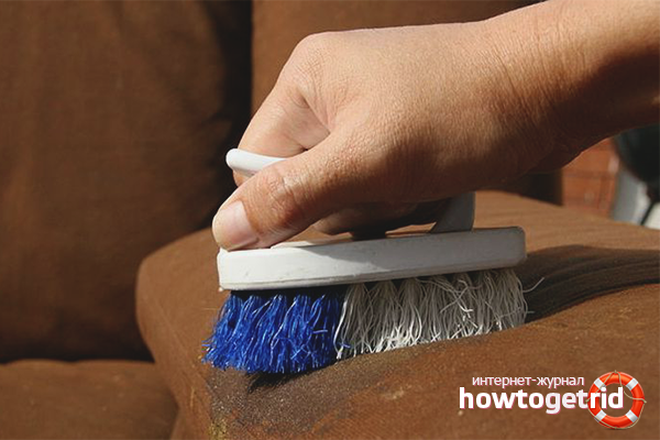 Вывод пятен с обивки мягкой мебели