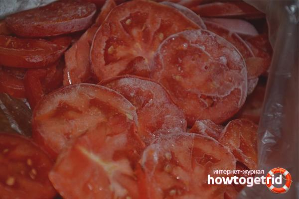 Замороженные помидоры кружочками