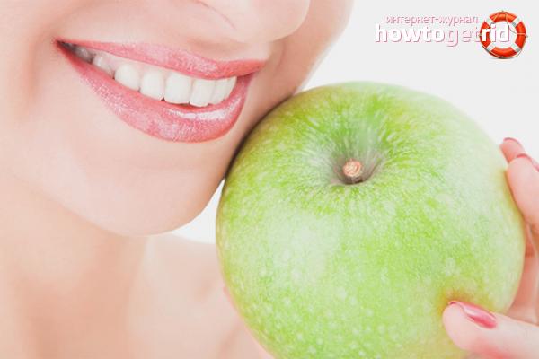 Яблоко от зубного камня