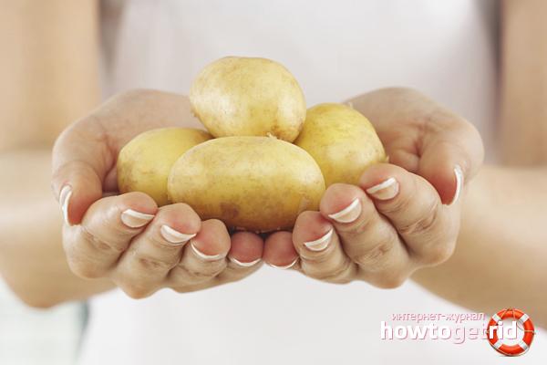 Сырой картофель для лица