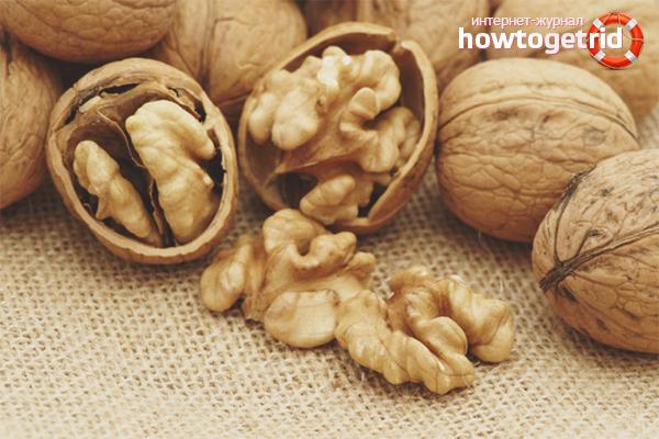 Грецкие орехи от папиллом