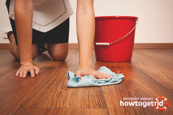 Как помыть ламинат без разводов