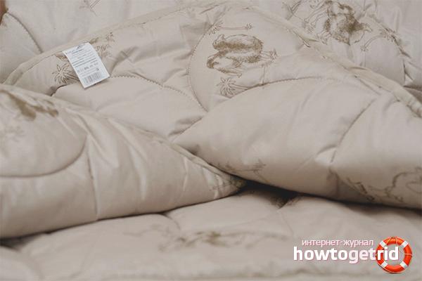 Как постирать одеяло из верблюжьей шерсти