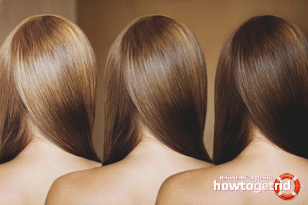 Как сделать смывку волос