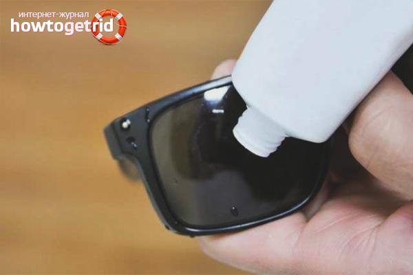 Как убрать царапины с солнцезащитных очков