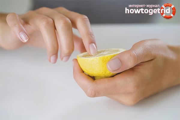 Лимон от укуса осы