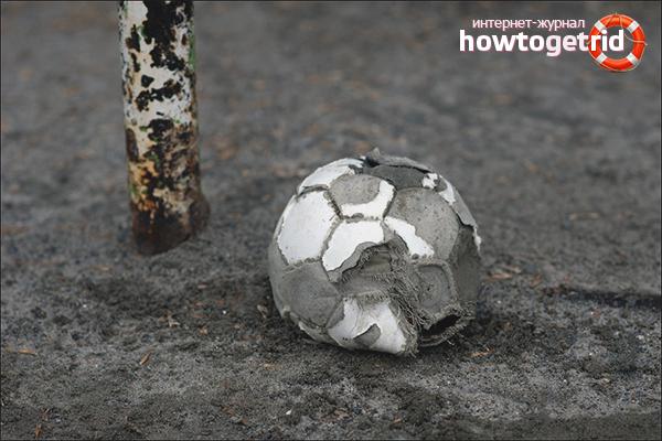 Как накачать мяч без иглы