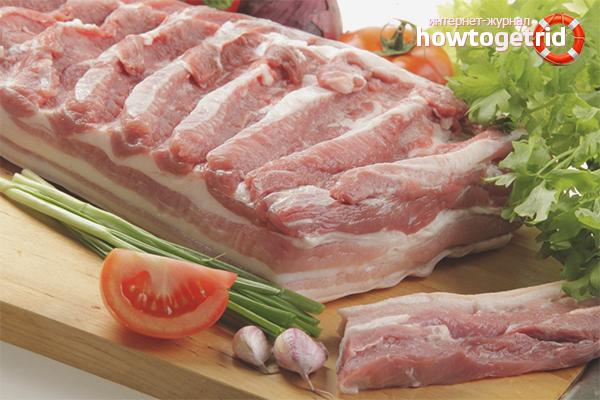 Как засолить свиную грудинку