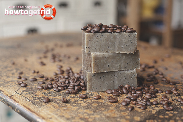Мыло-скраб на основе кофе