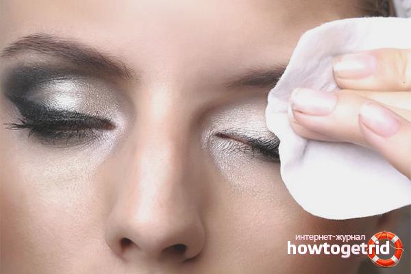 Правильное удаление макияжа