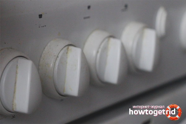 Как почистить рукоятки газовой плиты