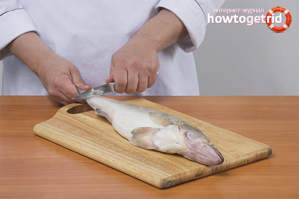 Как почистить рыбу от чешуи