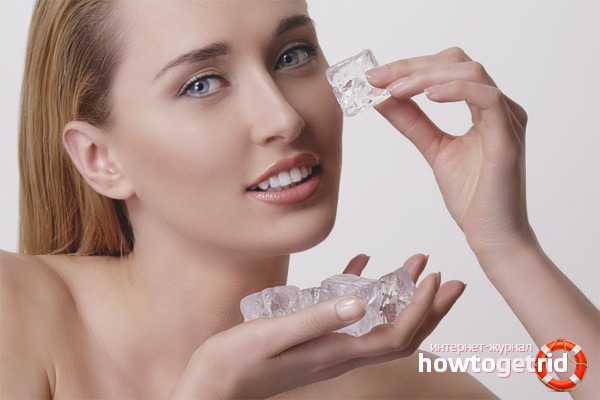 Косметический лёд для матовой кожи лица