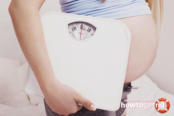Как не набрать вес при беременности