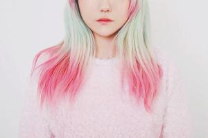 Как покрасить кончики волос
