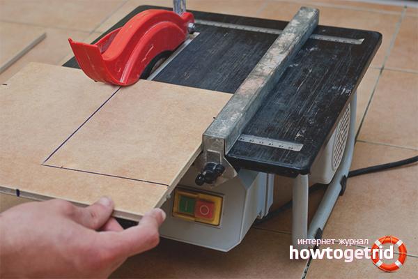 Как резать керамогранитную плитку пилой