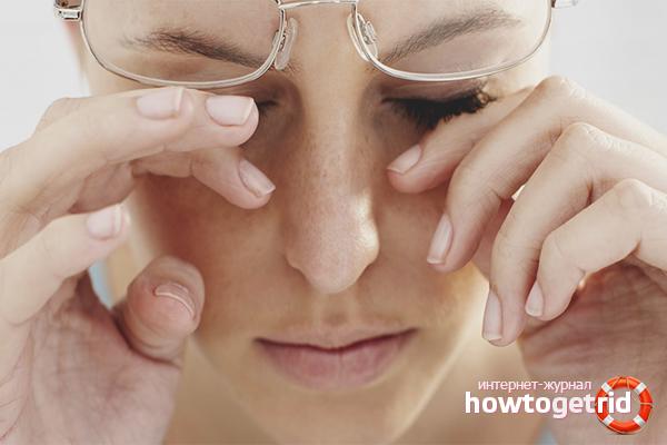 Как снять глазное давление