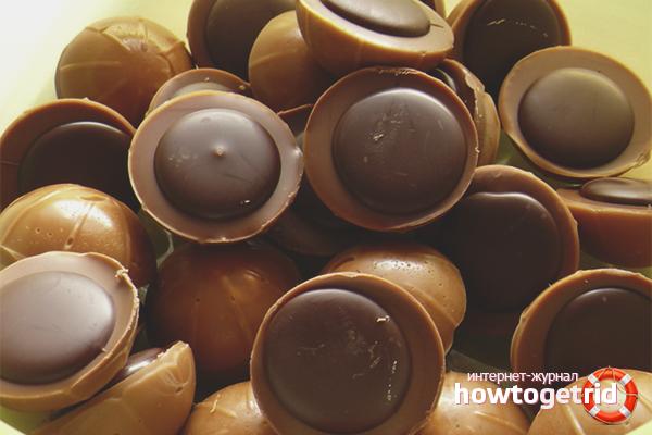 Конфеты с ирисом и шоколадом