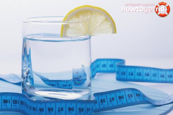 Приготовление воды для похудения