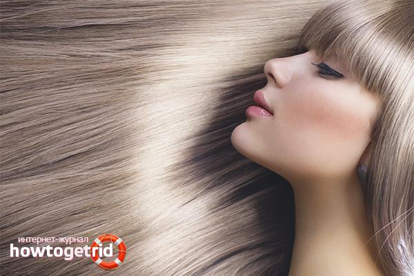 Ламинирование секущихся волос