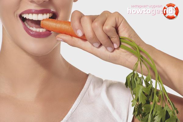 Морковь для зубов