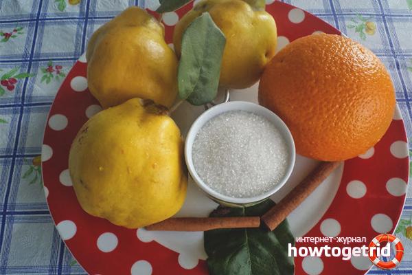 Айвовое варенье с апельсином