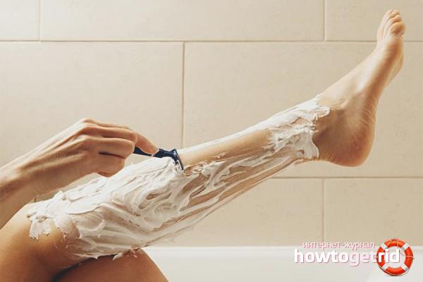 Как брить ноги бритвой