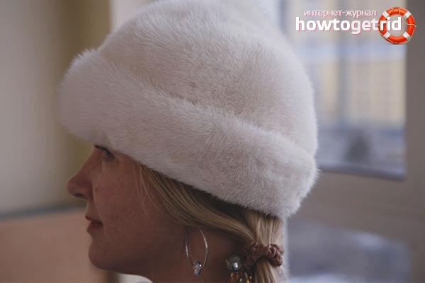 Как почистить белую норковую шапку