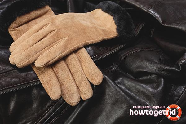 Как почистить замшевые перчатки