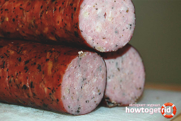 Как сделать копченую колбасу