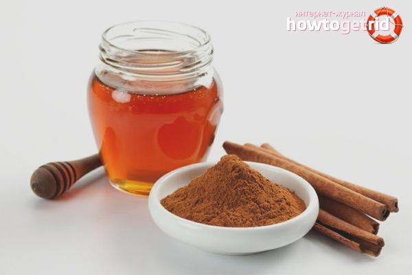 Корица и мед для смывки краски с волос