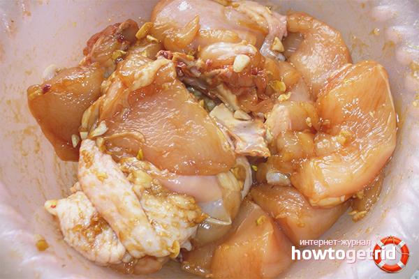 Куриный маринад с соевым соусом