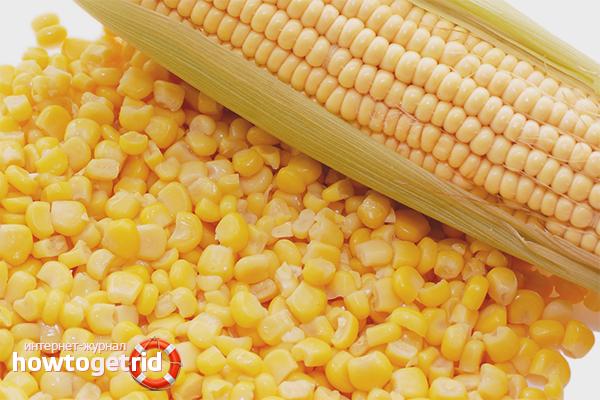 Нарезка зерен кукурузы