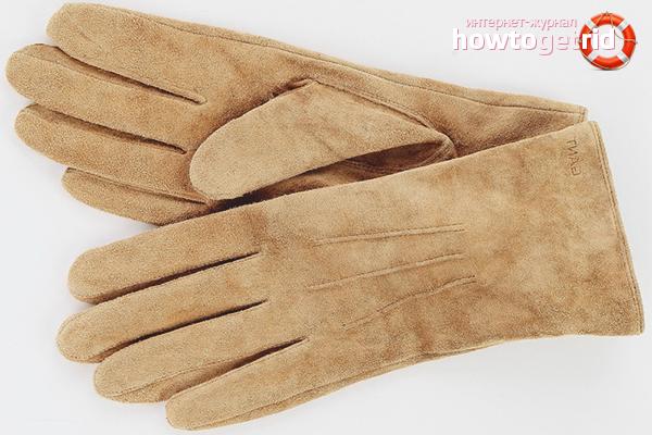 Очистка белых замшевых перчаток