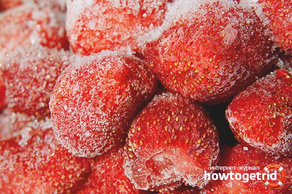 Заморозка клубники с сахаром